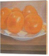 Mandarins On A Plate  Wood Print