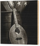 Mandolin America Antique Wood Print by Barry C Donovan
