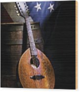 Mandolin America Wood Print