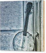 Mandolin Banjo In The Corner Wood Print