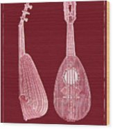 Mandolin Red Musical Instrument Wood Print