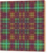 Mandoxocco-wallpaper-red-green Wood Print