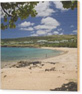 Manele Bay Wood Print