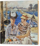Manet: Boaters, 1874 Wood Print