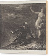 Manfred And Astarte (2nd Plate) Wood Print