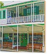 Mangia Mangia Pasta Market And Cafe On Key West Florida Wood Print