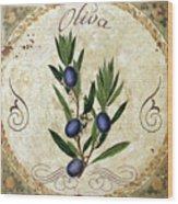 Mangia Olives Wood Print