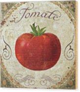 Mangia Tomato Wood Print