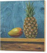 Mango And Pineapple Wood Print