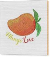 Mango Love Fruit Watercolor Mandala  Wood Print
