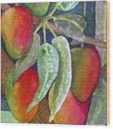 Mango One Wood Print
