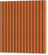 Mango Orange Striped Pattern Design Wood Print