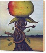 Mango Tree Aka Senor Mango Wood Print by Leah Saulnier The Painting Maniac