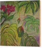 Mangoes Wood Print by Lee Krbavac