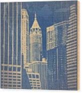 Manhattan 1 Wood Print by Naxart Studio
