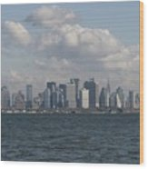 Manhattan And Governors Island Wood Print