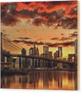 Manhattan BBQ Wood Print