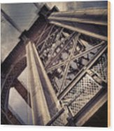 Manhattan Bridge From Below Wood Print