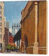 Manhattan Bridge From  Front Street, Brooklyn Wood Print