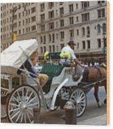 Manhattan Buggy Ride Wood Print