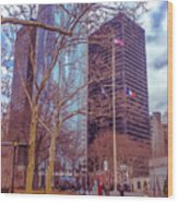 Manhattan Wood Print by Claudia M Photography