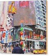 Manhattan Crossroads Wood Print
