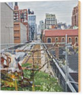 Manhattan High Line Wood Print