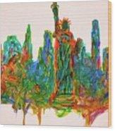 Manhattan Lady Wood Print
