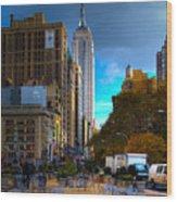Manhattan Morning Wood Print