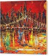 Manhattan Red Wood Print