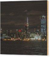 Manhattan Skyline 5 Wood Print