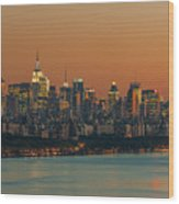 Manhattan Twilight I Wood Print