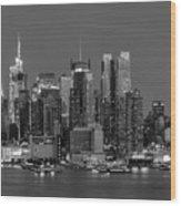 Manhattan Twilight Iv Wood Print by Clarence Holmes