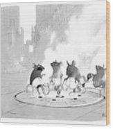 Manhole Sauna Wood Print
