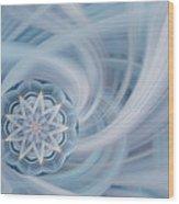Manifest Beauty In Blue Wood Print