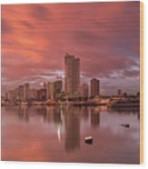 Manila At Sunset Wood Print