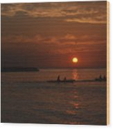 Manila Bay At Dusk. Wood Print