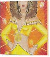 Manipura Solar Plexus Chakra Goddess Wood Print
