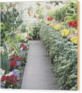 Manito Park Conservatory Wood Print