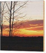 Manitoba Sunset Wood Print