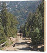 Manitou Springs Pikes Peak Incline Wood Print