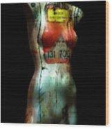 Mannequin Graffiti Wood Print