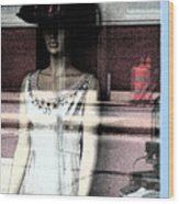 Mannequin Window 1 Wood Print