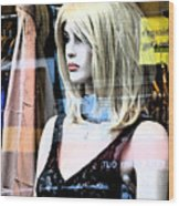 Mannequin Window 4 Wood Print