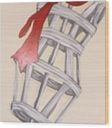 Mannequin With Red Tie Wood Print