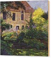 Manor House Steps Wood Print