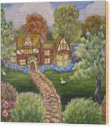 Manor Of Yore Wood Print