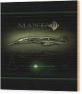 Manta Concept Wood Print