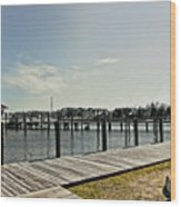 Manteo Waterfront Wood Print