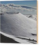 Mauna Kea Dressed In Snow Wood Print